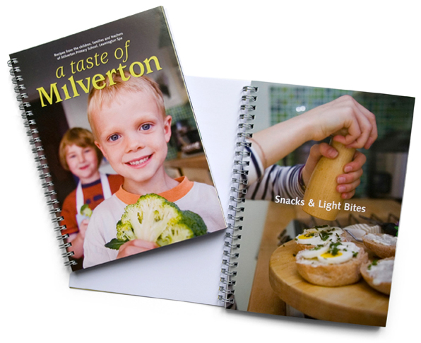 Milverton School recipe book featuring photography by Rachel Spivey