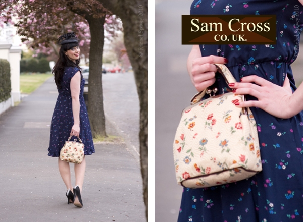 Veronica Kupcake models Cloth Magpie bag by Sam Cross. Image by Rachel Spivey Photographer