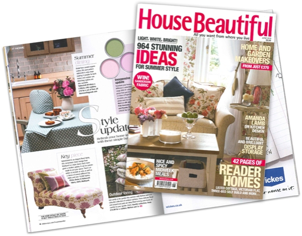 House Beautiful magazine featuring Ochre & Ocre products photographed by Rachel Spivey
