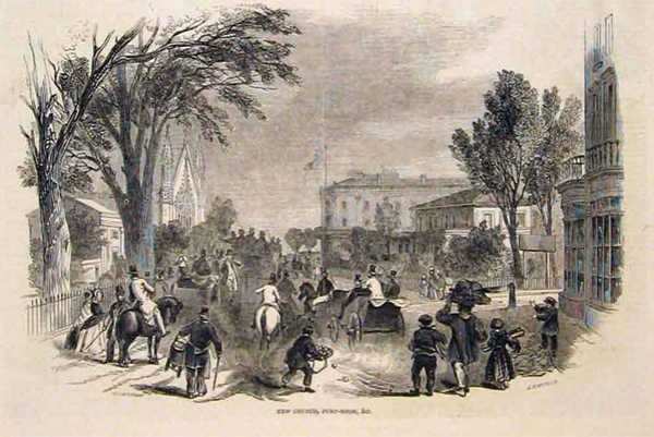 View of Leamington Pump rooms from a newspaper dated 1849
