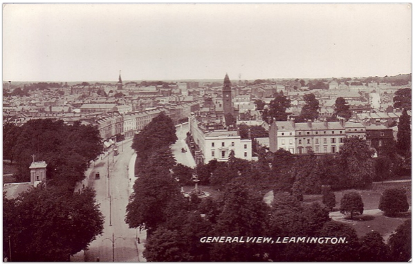 View of North Leamington Spa from All Saints Spire