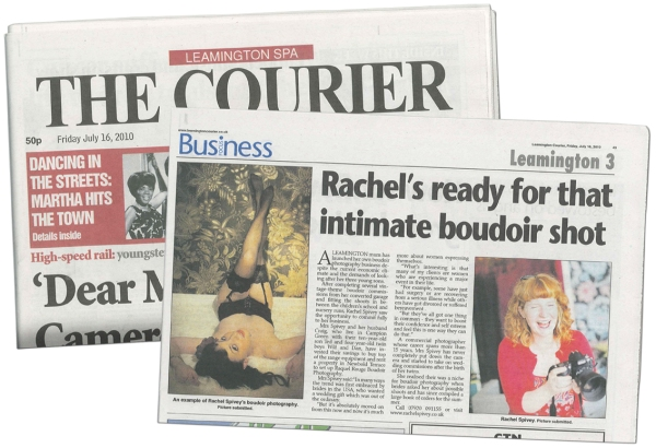 Rachel Spivey featured in the Leamington Spa Courier