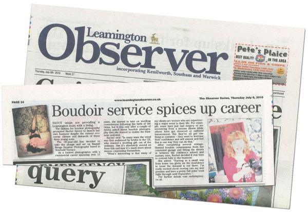 Rachel Spivey Photographer featured in the Leamington Observer