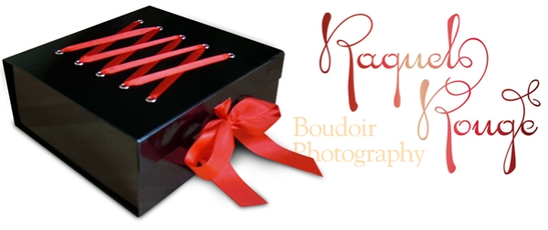Boudoir photo session gift box from Raquel Rouge