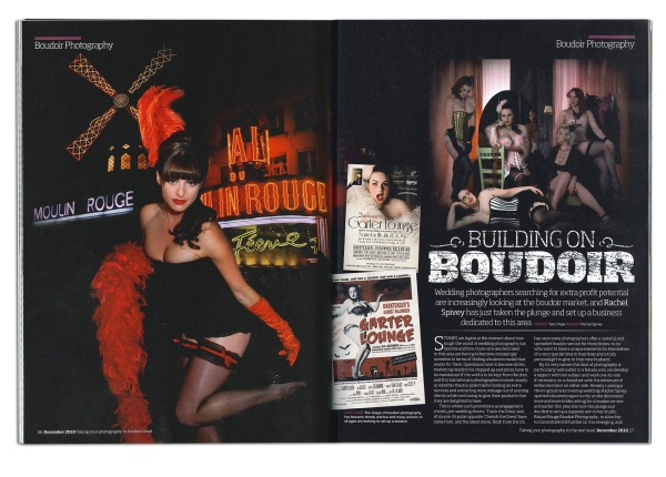 Photo Pro Magazine feature on the work of Rachel Spivey, Burlesque photographer, Leamington Spa, Warwickshire