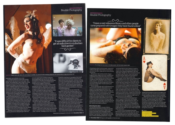 Leamington-based Raquel Rouge boudoir and burlesque photography national press coverage