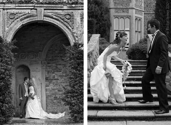 Informal and formal black and white shots of brides and grooms