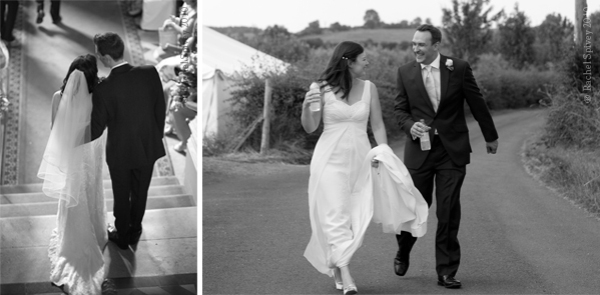 Unguared moments of newlyweds on their wedding day