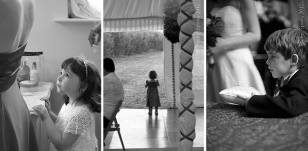 Beautiful wedding photography of children at the ceremony