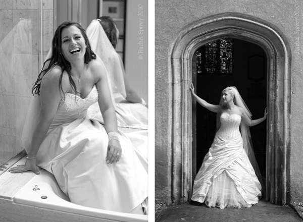 Beatutiful, relaxed portraits of brides on their wedding day