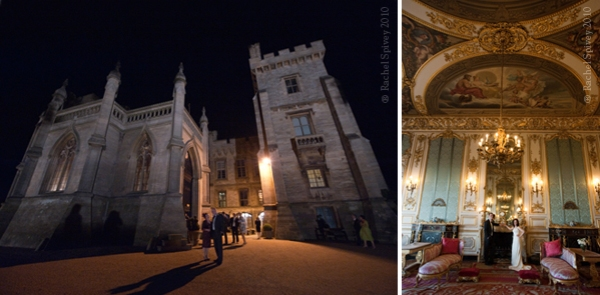 Belvoir Castle, exclusive wedding venue photographed at night by Rachel Spivey