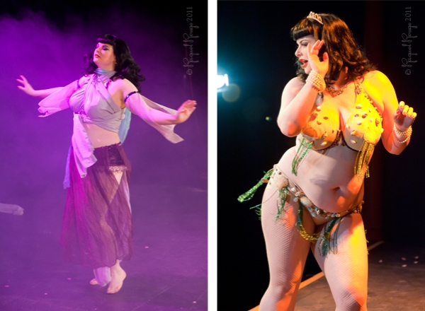 Betty Page look-a-like Leyla Rose rocks the audience in Cheltenham
