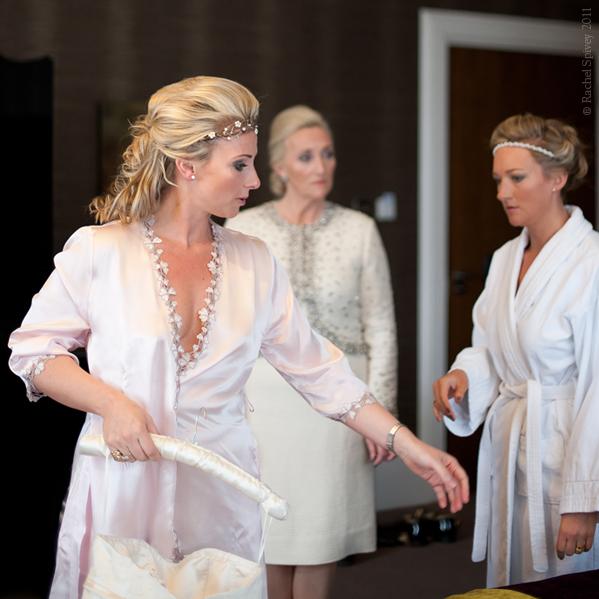Bride, bridesmaid and the bride's mother