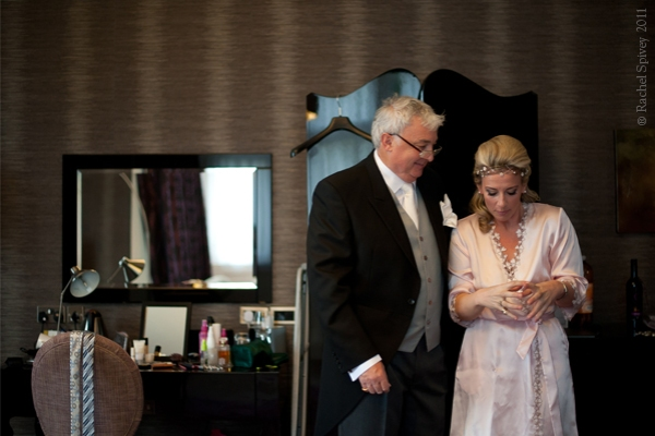 Intimate moment between the bride and her father