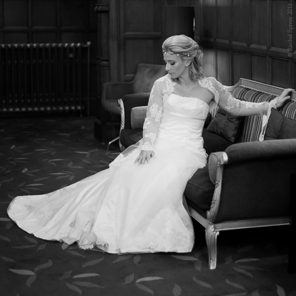 A formal portrait of a beautiful bride