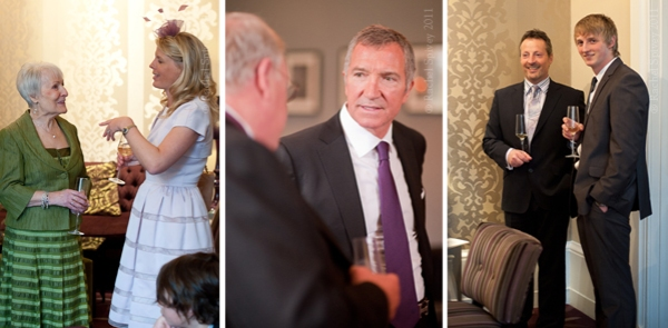 Candid photogrpahy of wedding guests taken at Hampton Manor hotel by Rachel Spivey
