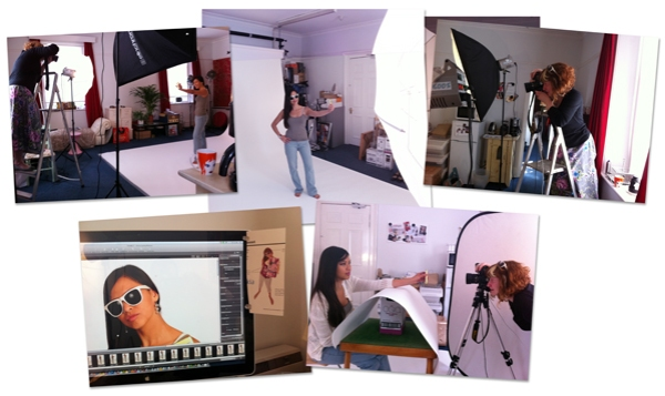 Behind the scenes of photoshoot for a marketing agency