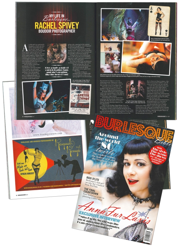 Rachel Spivey Raquel Rouge feature in Burleseque Bible