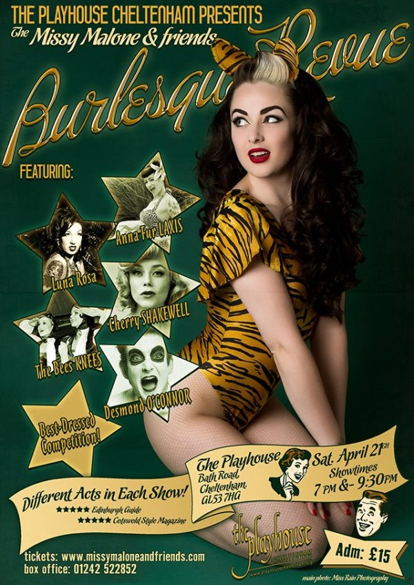 Missy Malone & Friends Burlesque Review poster 2012
