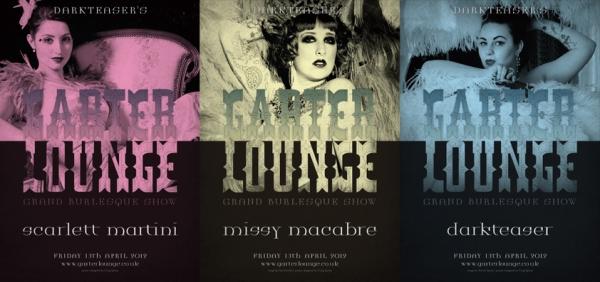 Burlesque headliner posters by Craig Spivey