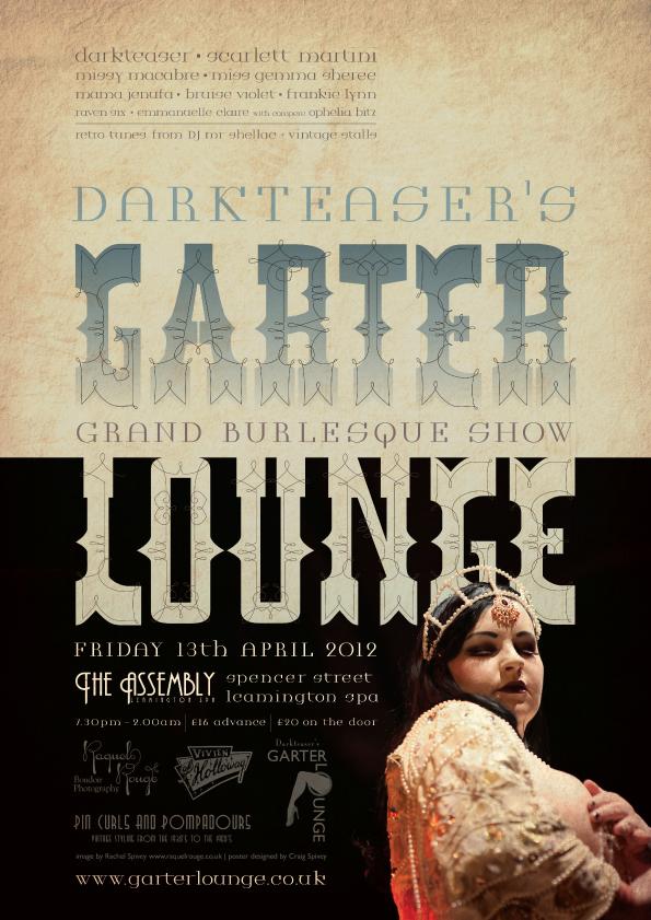 Darkteaser's Garter Lounge burlesque poster by Craig Spivey