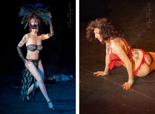 Luna Rosa burlesque performer