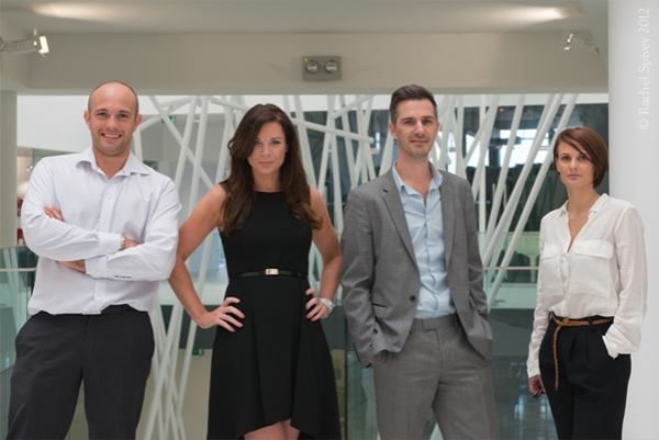 Professional contemporary company team photograph