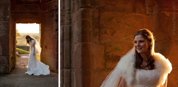 Kenilworth Warwickshire bride fur shrug evening reception photography