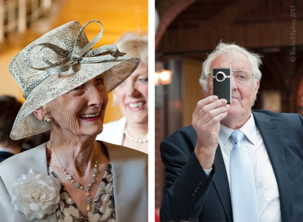 Grandma at wedding Walton Hall and uncle videographer at Ardencote Manor