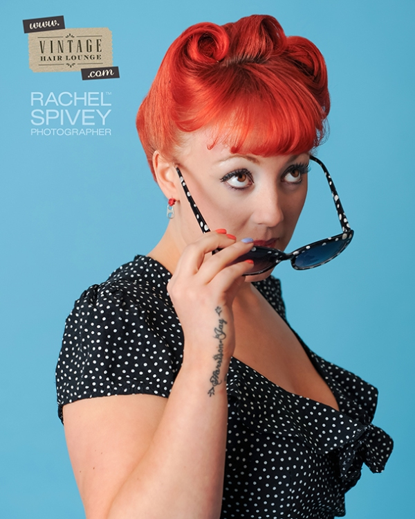 Vintage Hair lounge showcase by Leamington Spa photographer Rachel Spivey