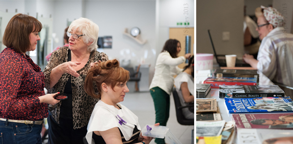 Vintage hair tips shared on a course at Aston & Fincher