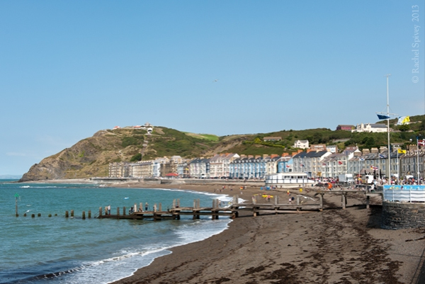 Aberystwyth sea front and beach