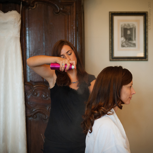 Bridal preparations by Warwckshire wedding photographer Rachel Spivey