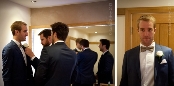 Groom and Groomsmen get ready by Warwckshire wedding photographer Rachel Spivey