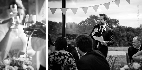 Best Man toasts the bride and grrom