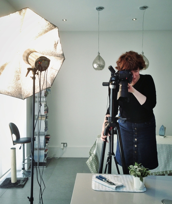 Rachel Spivey Photographer at work shooting images for a catalogue
