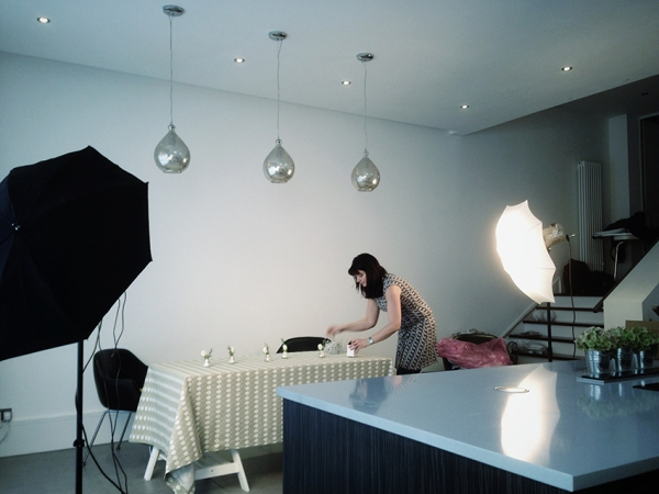 Tess from Ochre & Ocre setting up a shot